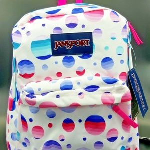 Jansport Superbreak Backpack Ombre Polka Dots